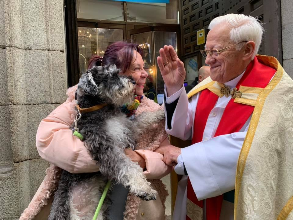 Las bendiciones del padre Ángel el Día de los Animales