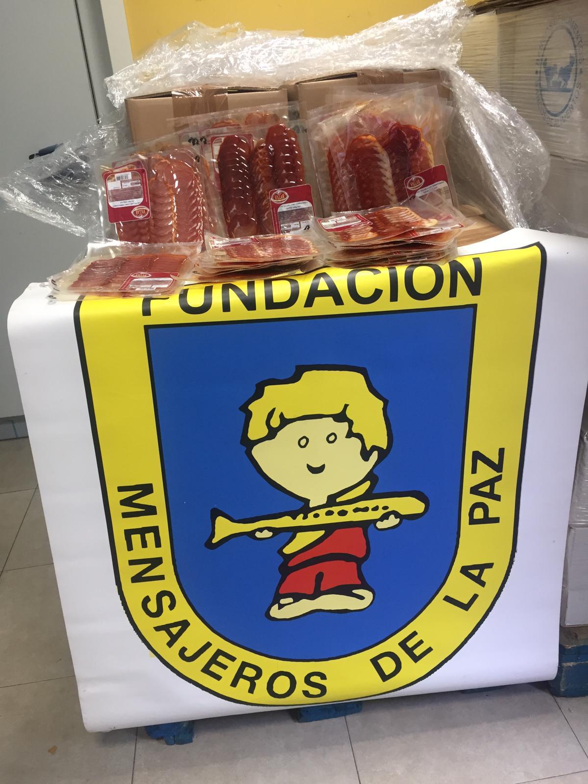Industrias Cárnicas Villar ha donado 3000 paquetes de lomo a la Fundación Mensajeros de la Paz
