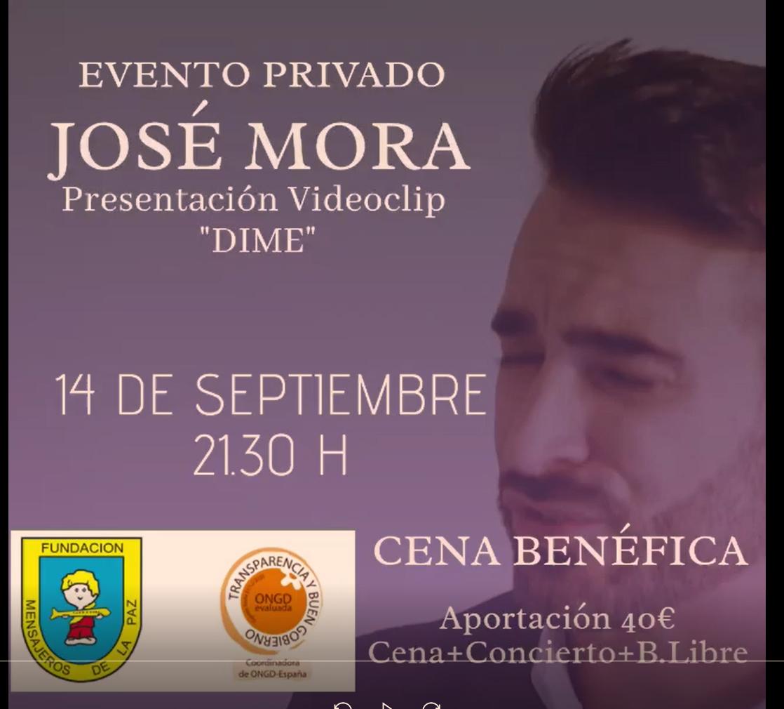 """Evento privado Jose Mora. Presentación videoclip """"Dime"""""""