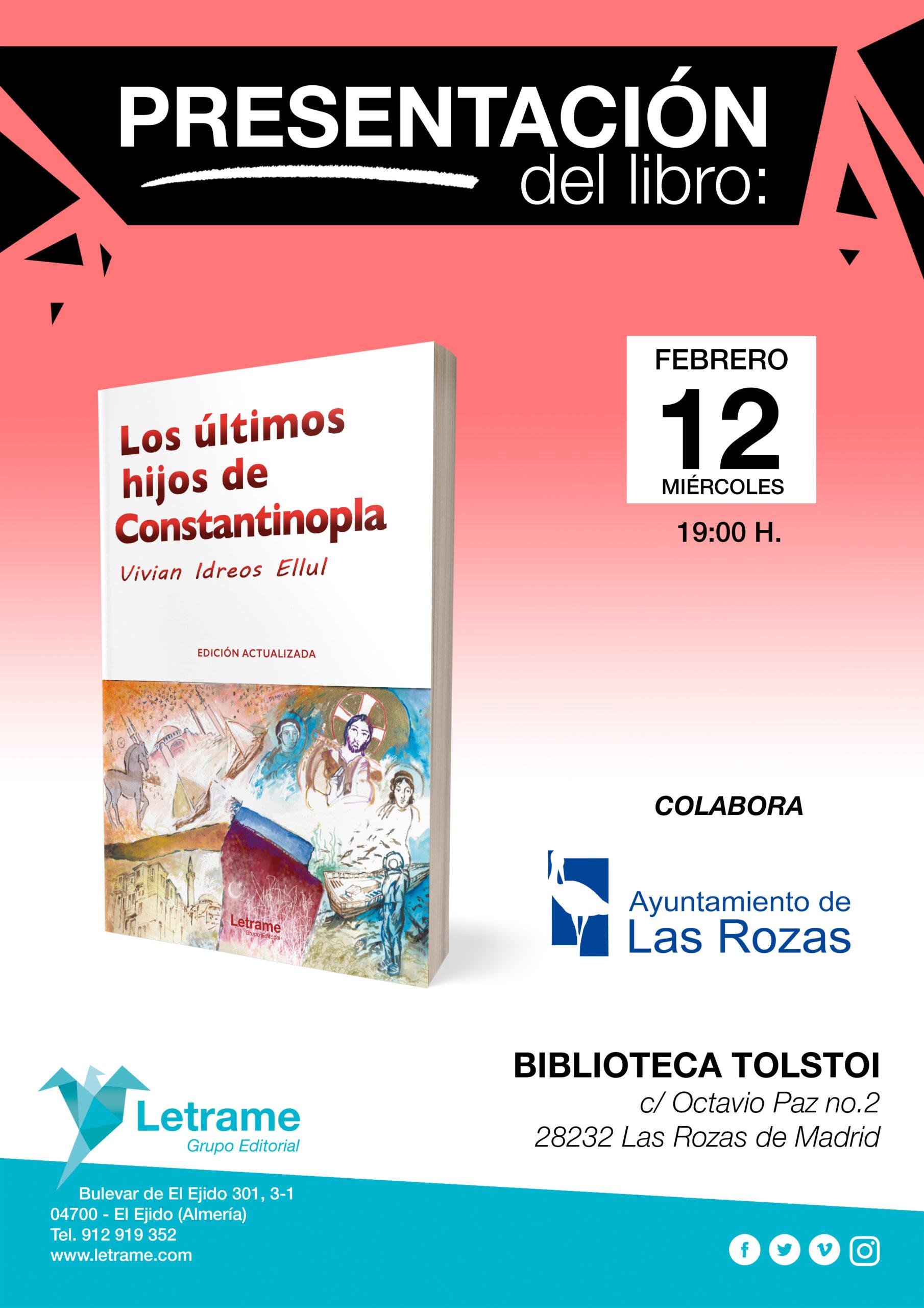 """Presentación libro """"Los últimos hijos de Constantinopla"""""""