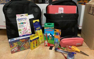 Mochilas para lo menores de INCREFAM, Infancia creciendo en familia