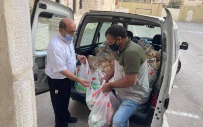 Entrega de alimentos a los refugiados en Jordania