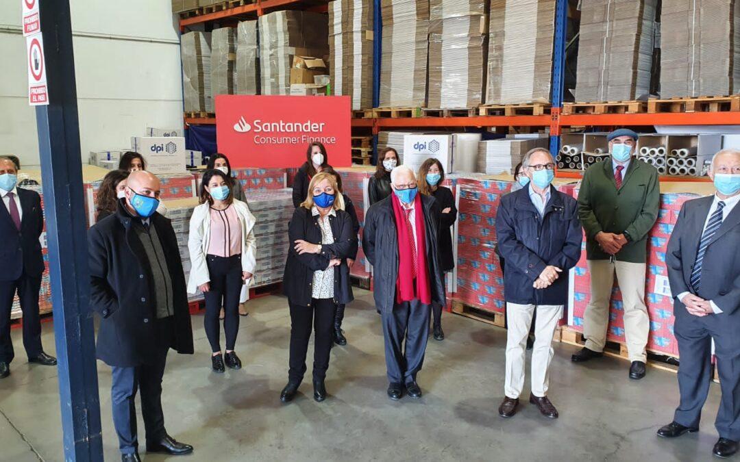 Donación de 8 palets de legumbre por parte de los empleados de Santander Consumer Finance