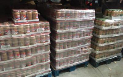 Legumbres Luengo nos facilita 11 palets de botes de lentejas, judias y garbanzos