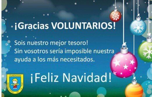 ¡Gracias voluntarios, Feliz Navidad!