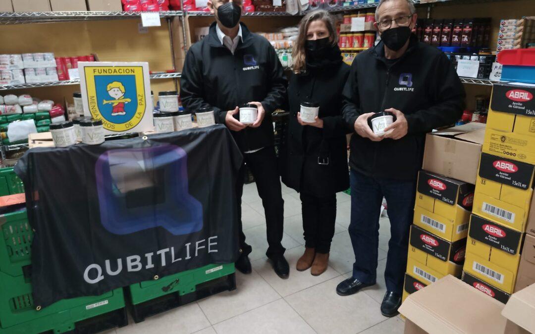 QUBITLIFE ESPAÑA ha realizado un donación de Alimento Ecológico y Nutritivo Vital Food