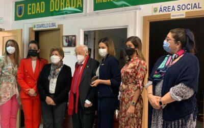 La Presidenta del Voluntariado Banreservas visitó al padre Ángel para hablar de la Fundación Mensajeros de la Paz