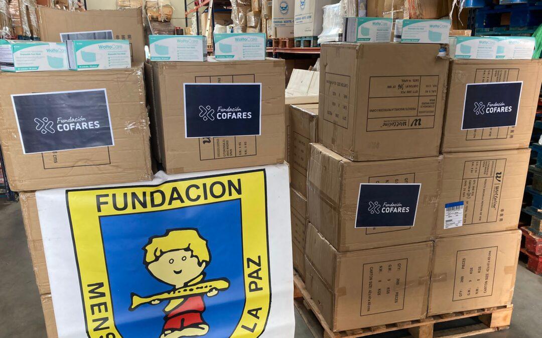 Hemos recibido 250.000 mascarillas de @FundacionCofares