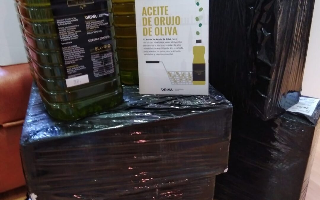 Hemos recibido 90 litros de @AceiteOrujo, de ORIVA