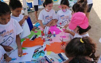 La Fundación Mensajeros de la Paz colabora, en las actividades de Melilla Sport Capital Voleibol, para los más pequeños.