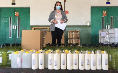 El Laboratorio HEBER FARMA nos han hecho entrega de donaciones de gelhidroalcohóico .